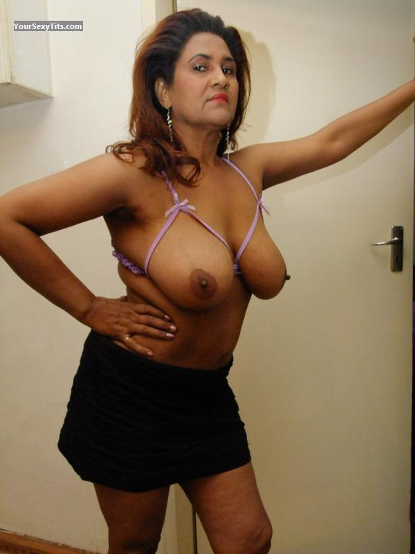 Tit Flash: Very Big Tits - Topless Zohra from South Africa